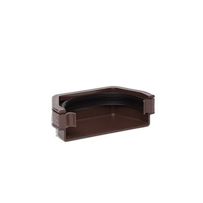 SQUARE STOP END EXTERNAL 112MM BROWN RS207BR RES1BR