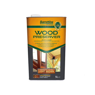 BARRETTINE WOOD PRESERVER  LIGHT BROWN 5L WOLB005