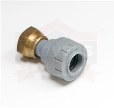 POLYPIPE POLYPLUMB 15MMX1/2IN STRAIGHT TAP CONNECTOR PB715