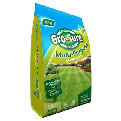 LAWN SEED MULTI PURPOSE GRO SURE POUCH BAG 120M2 20500174