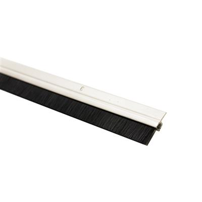 DRAUGHT EXCLUDER DOOR BRUSH STRIP 914MM PVC WHITE EXITEX 1.01.032.0914.35