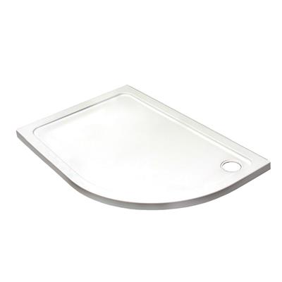 SHOWER TRAY 1200X800MM LEFT HAND OFFSET QUAD TRAY C/W 90MM WASTE REF KRQL1208L LOW PROFILE