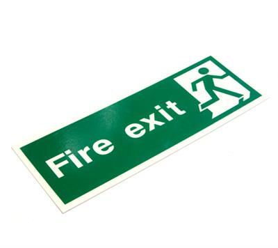PHOTOLUMINESCENT FIRE SAFETY SIGNAGE PP.16L FIRE EXIT (FINAL) 400x150