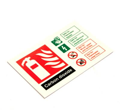 PHOTOLUMINESCENT FIRE SAFETY SIGNAGE PP.52Y EXTINGUISHER ID CO2 150x100