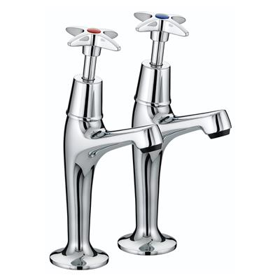 BRISTAN 5412 CROSS TOP HIGH NECK PILLAR TAPS CHROME PLATED VAX HNK C while stocks last