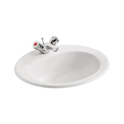 ARMITAGE SANDRINGHAM 21 50CM COUNTER TOP BASIN 1TH WHITE REF E895201