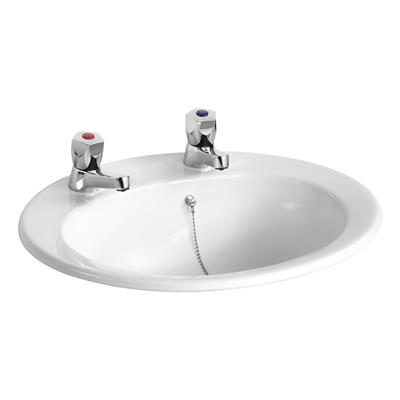ARMITAGE SANDRINGHAM 21 50CM COUNTER TOP BASIN 2TH WHITE REF E895301