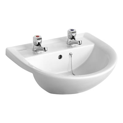 ARMITAGE SANDRINGHAM 21 SEMI COUNTER TOP BASIN 2TH WHITE REF E895901