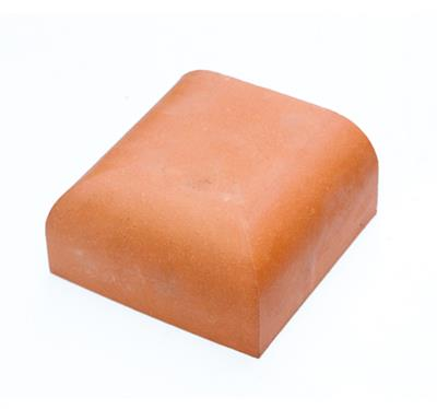SPECIAL BRICK DOUBLE BULLNOSE STOP END RED BN15.4 (STOCKED IN SHOP)