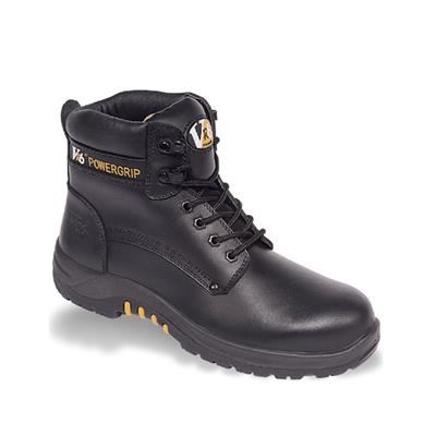SAFETY BOOT BISON BLACK WAXY DERBY VR600.01 SIZE 10