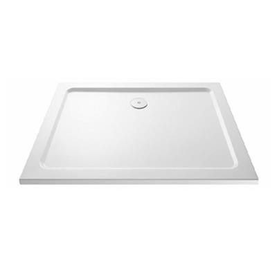SHOWER TRAY 900X900X45MM SQUARE C/W 90MM FAST FLOW WASTE KRS0909L LOW PROFILE