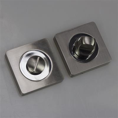 BATHROOM TURN & RELEASE SQUARE SATIN NICKEL/POL CHROME DH003622-SQ DALE HARDWARE