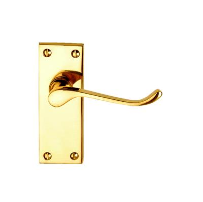DOOR HANDLES LATCH VICTORIAN SCROLL PB DH005218 DALE HARDWARE
