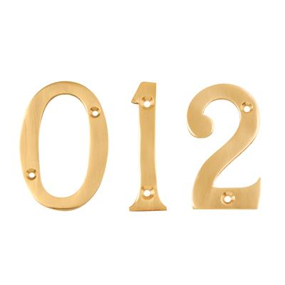NUMERAL NUMBER 4 76MM BRASS DH005404 DALE HARDWARE