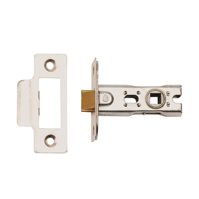 MORTICE LATCH 63MM SATIN STAINLESS STEEL (BOLT/THROUGH FIXING) (CLAM) REF DH007156
