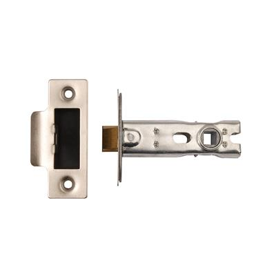 MORTICE LATCH 76MM SATIN STAINLESS STEEL (BOLT THROUGH FIXING)(CLAM) REF DH007157
