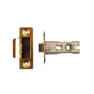 MORTICE LATCH 63MM POLISHED BRASS (BOLT TROUGH FIXING) (CLAM) REF DH007167 DALE