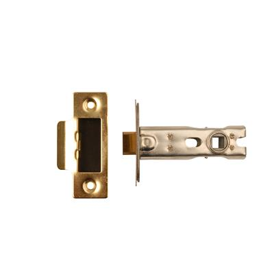 MORTICE LATCH 76MM POLISHED BRASS (BOLT THROUGH FIXING) (CLAM) REF DH007169 DALE