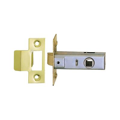 TUBULAR MORTICE LATCH 63MM ELECTRO BRASS PLATED P/P REF DH007172 DALE HARDWARE