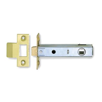 TUBULAR MORTICE LATCH 76MM ELECTRO BRASS PLATED P/P REF DH007173 DALE HARDWARE