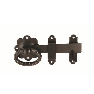RING GATE LATCH 152MM BLACK JAPPANED DH006185 DALE HARDWARE