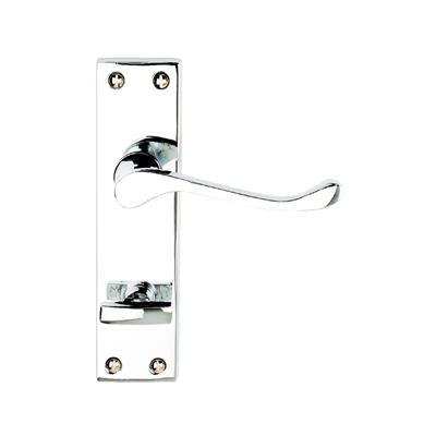 DOOR HANDLES BATHROOM SCROLL VICTORIAN POLISHED CHROME PLATED REF DH008216 DALE