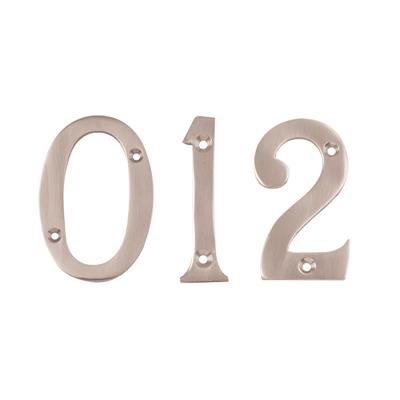 76MM NUMERAL (NO.4) P/P POLISHED CHROME PLATED REF DH008404 DALE HARDWARE