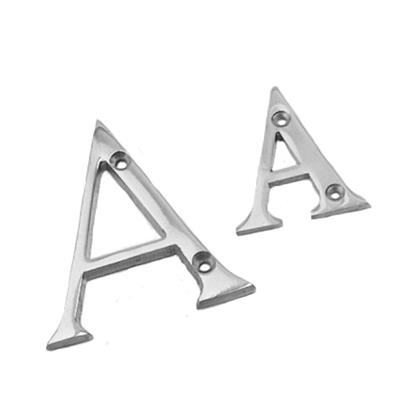 LETTER A 76MM POLISHED CHROME PLATED REF DH008443 DALE HARDWARE