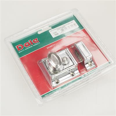 NIGHT LATCH TRADITIONAL NARROW STYLE POLISHED CHROME DH007028 DALE HARDWARE