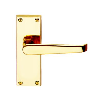 DOOR HANDLES LATCH VICTORIAN CLAM POLISHED BRASS REF DH055220 DALE HARDWARE