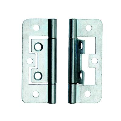 FLUSH HINGE 63MM ZINC PLATED (X2) DALEPAX REF DX40563 DALE HARDWARE