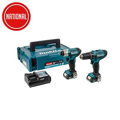MAKITA CLX202AJ  CORDELESS 10.8V COMBI / DRIVER / & CHARGER WITH 2 BATTERIES  ,MAKPAC CASE AND  FREE B-39182 BIT SET