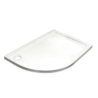 SHOWER TRAY 1200X800x45MM OFFSET QUAD TRAY RIGHT HAND C/W WASTE  KRQR1208L LOW PROFILE