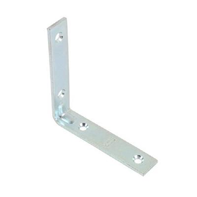 CORNER BRACE ZINC PLATED SELF COLOUR 100MM (X6) DX40598 DALE HARDWARE