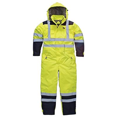 COVERALL WATERPROOF SAFETY YELLOW EXTRA LARGE SA7000 DICKIES WRITE OFF 31/12/18