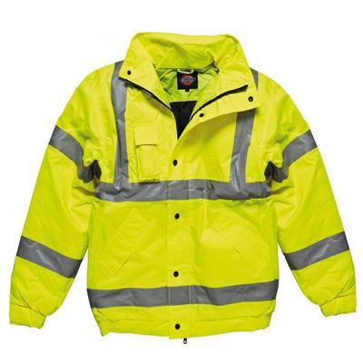 BOMBER JACKET HI VIS YELLOW LARGE DICKIES