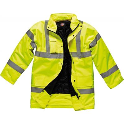 JACKET MOTORWAY SAFETY HI VIS YELLOW LARGE DICKIES