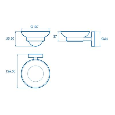 SOAP DISH & HOLDER ROMSEY CROYDEX REF QM741941
