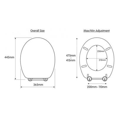 TOILET SEAT RUTLAND SOLID OAK FLEXI FIT  WITH SOFT CLOSE CROYDEX HINGES REF WL602376H