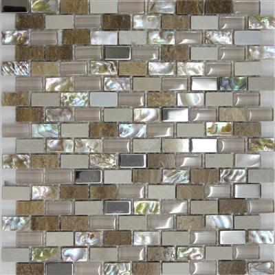 30x30 Oyster Pearl Mosaic