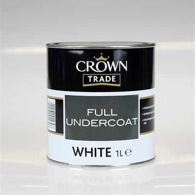 CROWN TRADE PAINT UNDERCOAT WHITE 1L