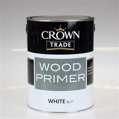 CROWN TRADE PAINT WOOD PRIMER WHITE 5L
