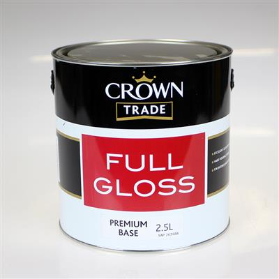 CROWN PAINT TRADE GLOSS BASE PREMIUM BASE 2.5LTR COLOUR