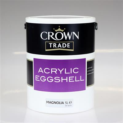 CROWN TRADE PAINT ACRYLIC EGGSHELL MAGNOLIA 5L