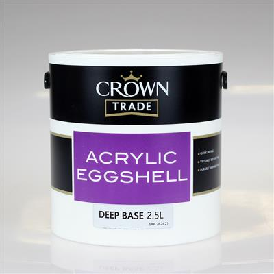 CROWN PAINT TRADE ACRYLIC EGG SHELL PASTEL 2.5LTR COLOUR