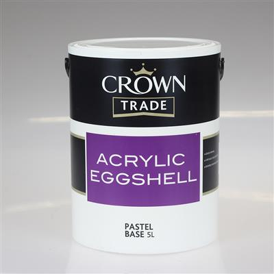 CROWN PAINT TRADE ACRYLIC EGG SHELL PASTEL 5LTR COLOUR