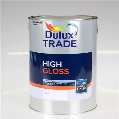 DULUX TRADE PAINT HIGH GLOSS WHITE 5L