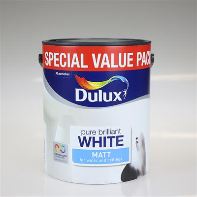 DULUX MATT PURE BRILLIANT WHITE 3L