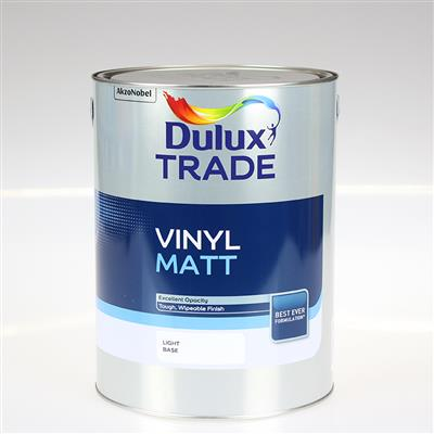 DULUX PAINT TRADE VINYL MATT LIGHT BASE 5LTR COLOUR