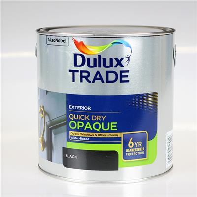 DULUX TRADE PAINT QUICK DRY OPAQUE BLACK 2.5L